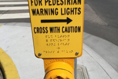 Crosswalk Button - all yellow