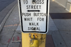 Crosswalk Button - so sad