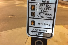 Crosswalk Button - so many instructions